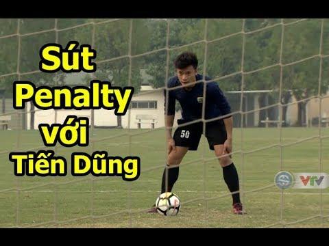 Thử thách bóng đá sút Penalty với Bùi Tiến Dũng U23 Việt Nam