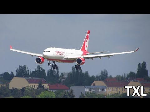 Planespotting at Berlin Tegel Airport TXL: A340, A330, 767, Specials Guests! [Full HD]