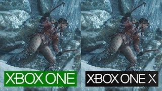 Rise of The Tomb Raider | Xbox One VS Xbox One X | 4K Graphics Comparison | Comparativa