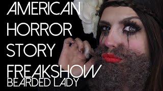 Bearded Lady Halloween Makeup Tutorial (American Horror Story) 2015