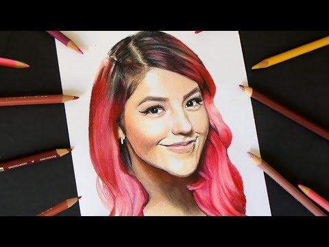 Dibujo De Lesslie Polinesia Retratando Youtubers Youtube