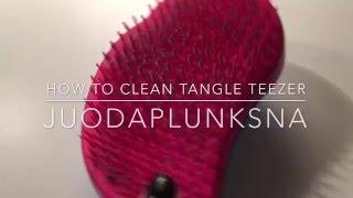 HOW TO: clean your tangle teezer   juodaplunksna