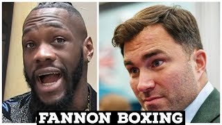 DEONTAY WILDER GOES IN ON ANTHONY JOSHUA AND HEARN | HEARN RESPONDS