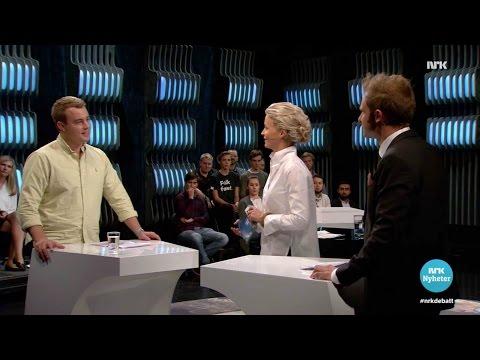 Mathias Mikkelsen and Snorre Valen Debate Wealth Tax (formueskatten) on NRK Debatten