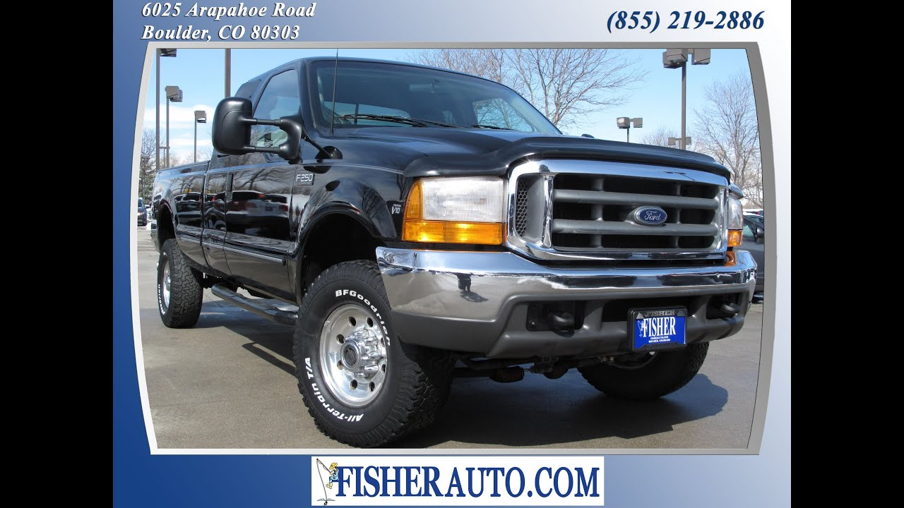 1999 ford f250 superduty xlt black 8 500 boulder colorado fisher auto stock 135372b  [ 1280 x 720 Pixel ]
