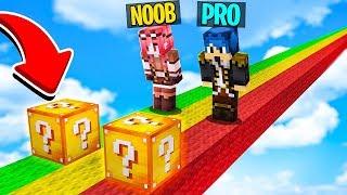 LA CORSA DEI LUCKY BLOCK!! - NOOB VS PRO - MINECRAFT