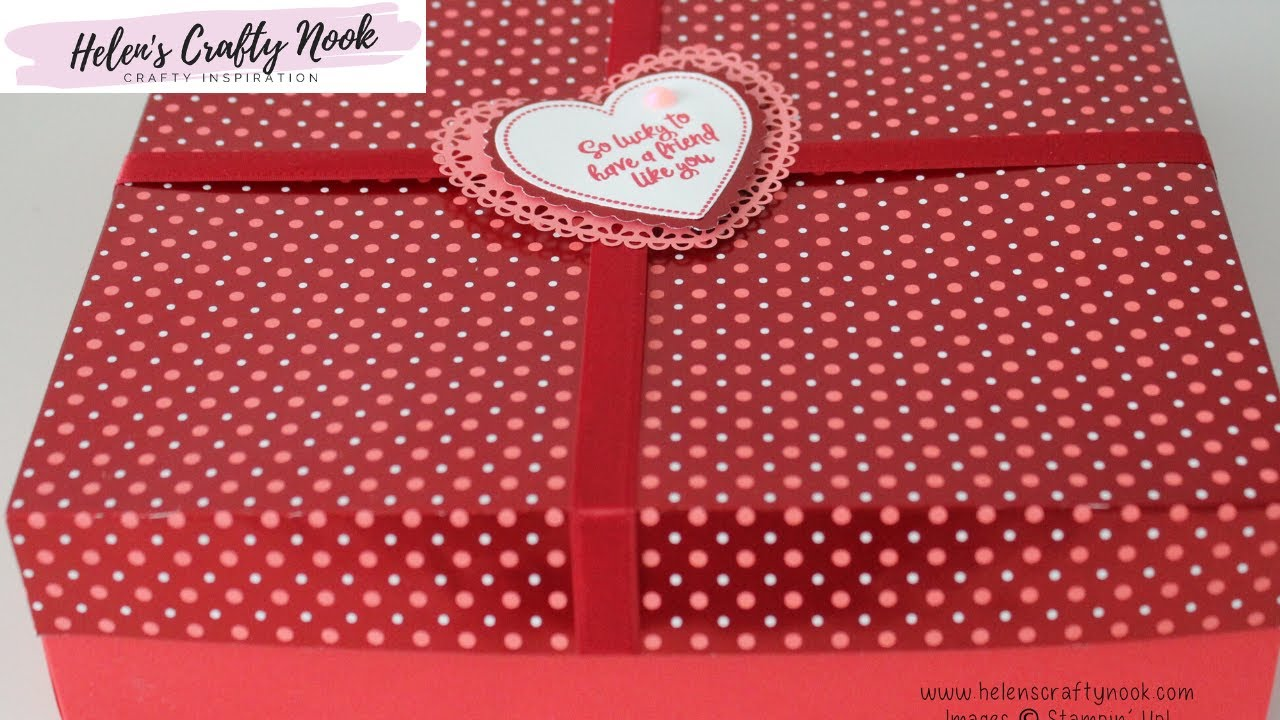 Download Large Box with Reinforced Lid   From My Heart Stampin' Up!