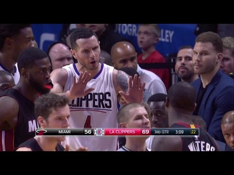 Dion Waiters ELBOWS JJ Redick in the back of the HEAD