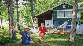 GLAMPING in CANADA (TINY HOUSE in New Brunswick by the River!) + Visiting KING'S LANDING village