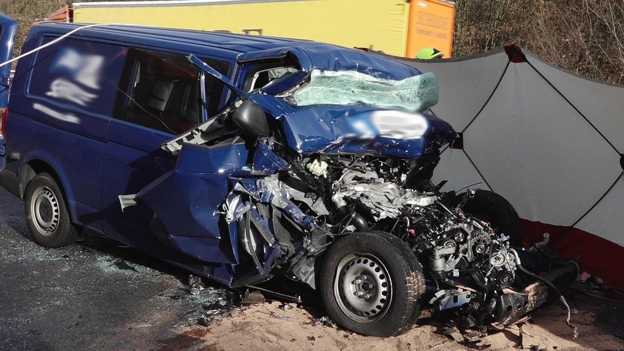 Tödlicher Verkehrsunfall auf der A67 Gernsheim - Lorsch - YouTube