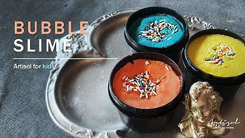 아이들을 위한 슬라임 입욕제 만들기 : Slime bubble Making DIY │ Artisol for you │아띠솔포유