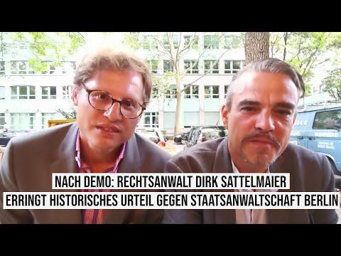 Straftat #Demo Historisches #Corona Urteil Strafgericht Berlin Rosa-Luxemburg-Platz Dirk Sattelmaier