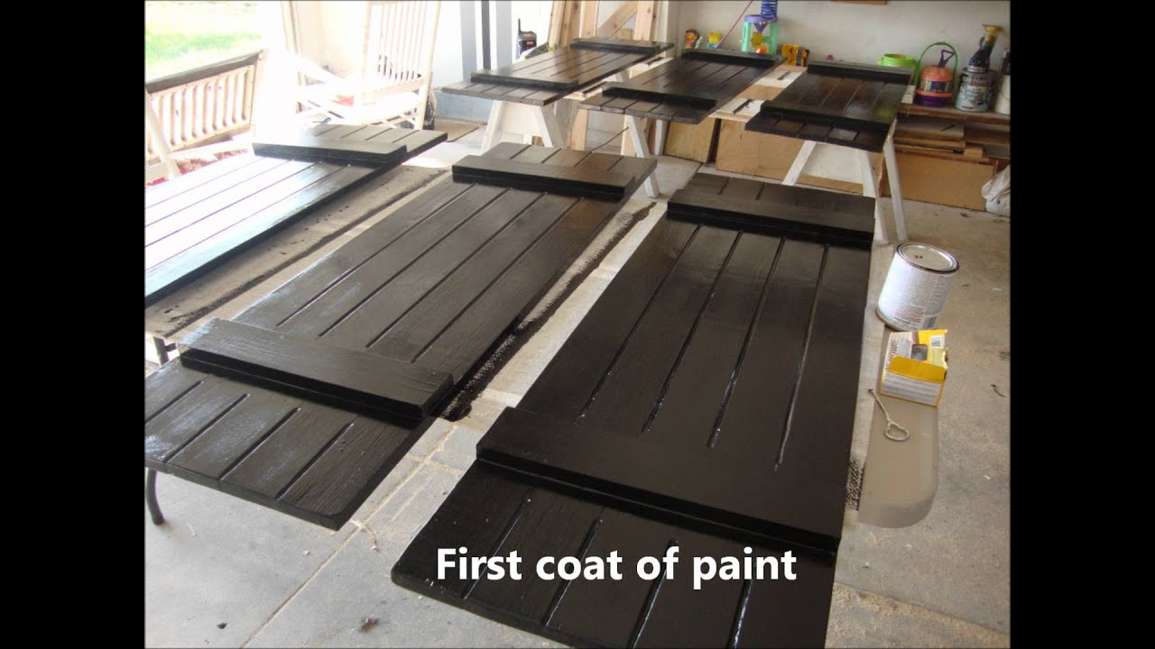 DIY Board and Batten Shutters - YouTube