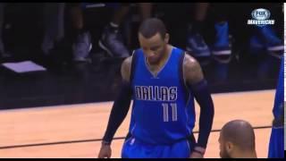 Monta Ellis apparent leg injury: Dallas Mavericks at San Antonio Spurs
