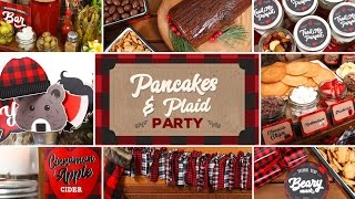 Pancakes & Plaid Party | Holiday Brunch Ideas