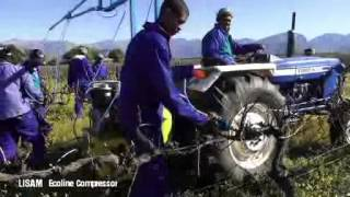 Pneumatic Pruning with Tractor mounted compressor