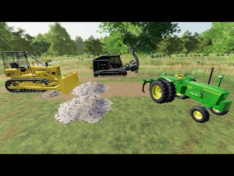 Knocking down house and buying tractor | Back in my day S2 ep2 | Farming Simulator 19 |
