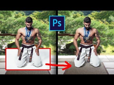 Как заменить фон на фото и перенести тень в фотошопе