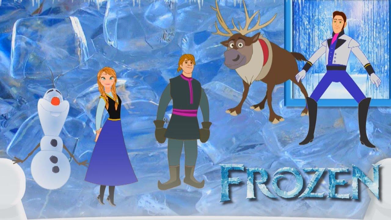Frozen Cinco Macaquinhos Pulando no Colchão Uma Aventura Congelante - Canções Infantis