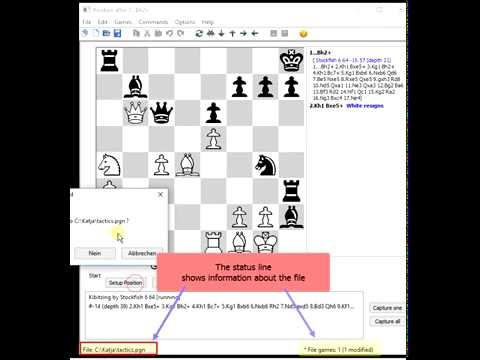 Chess-tactics training with Tarrasch Chess GUI (free software)