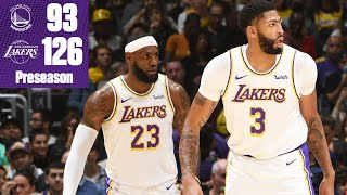 LeBron James and Anthony Davis put on a show in Lakers' win vs. the Warriors | 2019 NBA Highlights