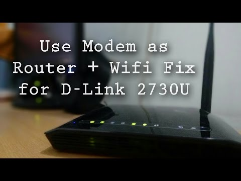 How to use Wireless Modem as a Router + Wifi fix for D-Link 2730U and Android
