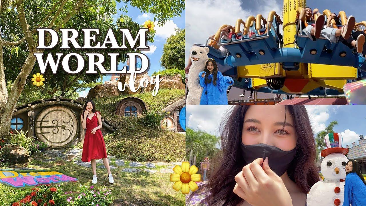 🎢 DREAM WORLD VLOG เที่ยวดรีมเวิลด์ 2020 ถ่ายรูป เล่นเครื่องเล่น รูปสวยๆเยอะมาก!! | Babyjingko