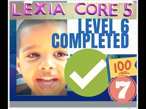 Lexia Core 5 Level 6 Completion   Building Words And Sight Words