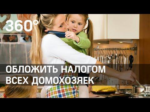 Обложить домохозяек налогом как самозанятых предложили в Госдуме