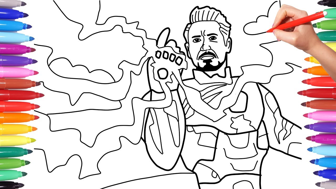 Avengers Endgame Iron Man Coloring Pages - colouring mermaid