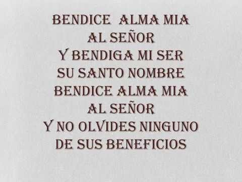 Bendice Alma Mia Al Señor Con Letra Youtube