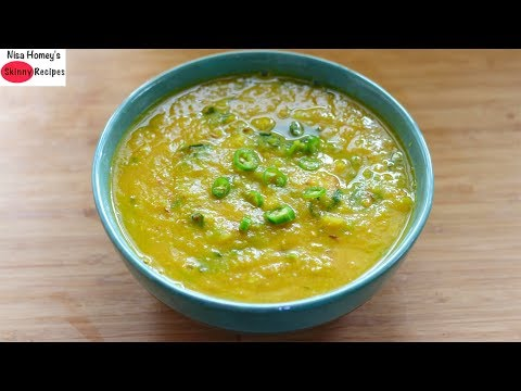 Dal Soup For Weight Loss - Healthy Lentil Soup Recipe - Gluten Free & Vegan Dinner   Skinny Recipes