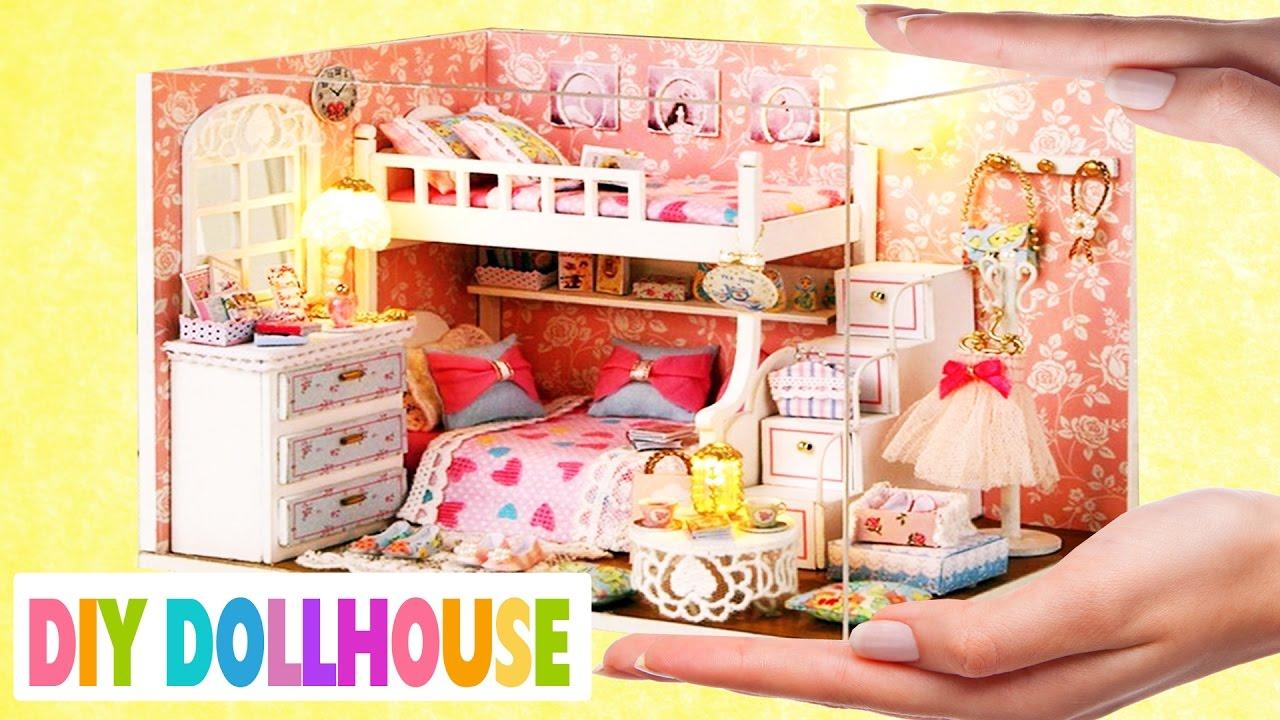 How To Make A Miniature Dollhouse Girl Room 1 Simplekidscrafts