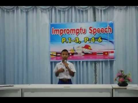 โรงเรียนอนุบาลตรัง anbantrangschool Impromptu Speech por5 6