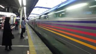 寝台特急カシオペア号 上野発札幌行きが、赤羽駅を通過するところです。...