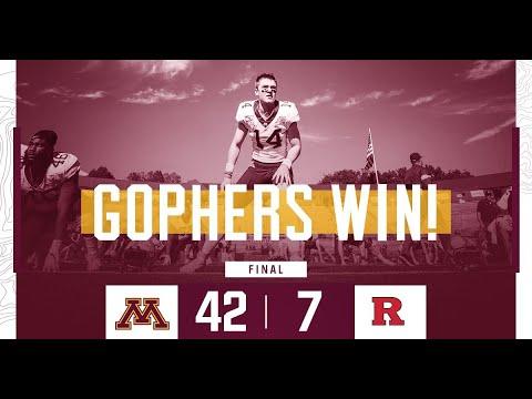 Gopher - Highlights: Gopher Football Defeats Rutgers 42-7