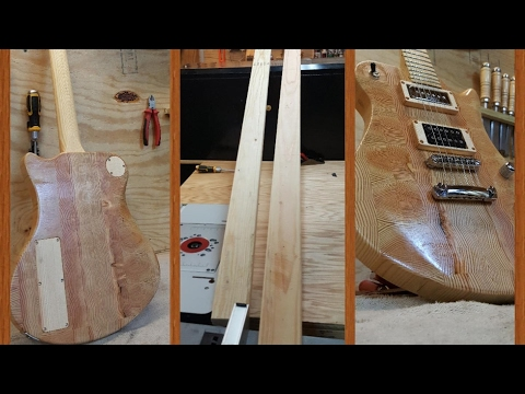 Full Feature Pine 2x4 Electric Guitar With Butcher Block End Grain Body!!! --Build Video--