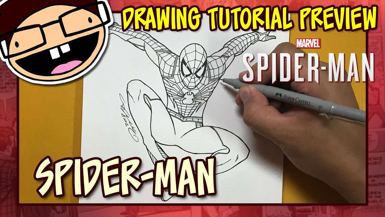 how to draw the hard spider man