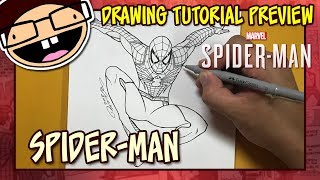 [PREVIEW] How to Draw SPIDER-MAN (2018 PS4 Video Game) | Tutorial Time Lapse