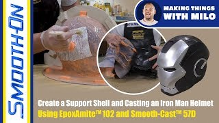 Cosplay Tutorial: Iron Man Helmet - Part 2: Epoxy Support Shell and Hand Rotated Casting