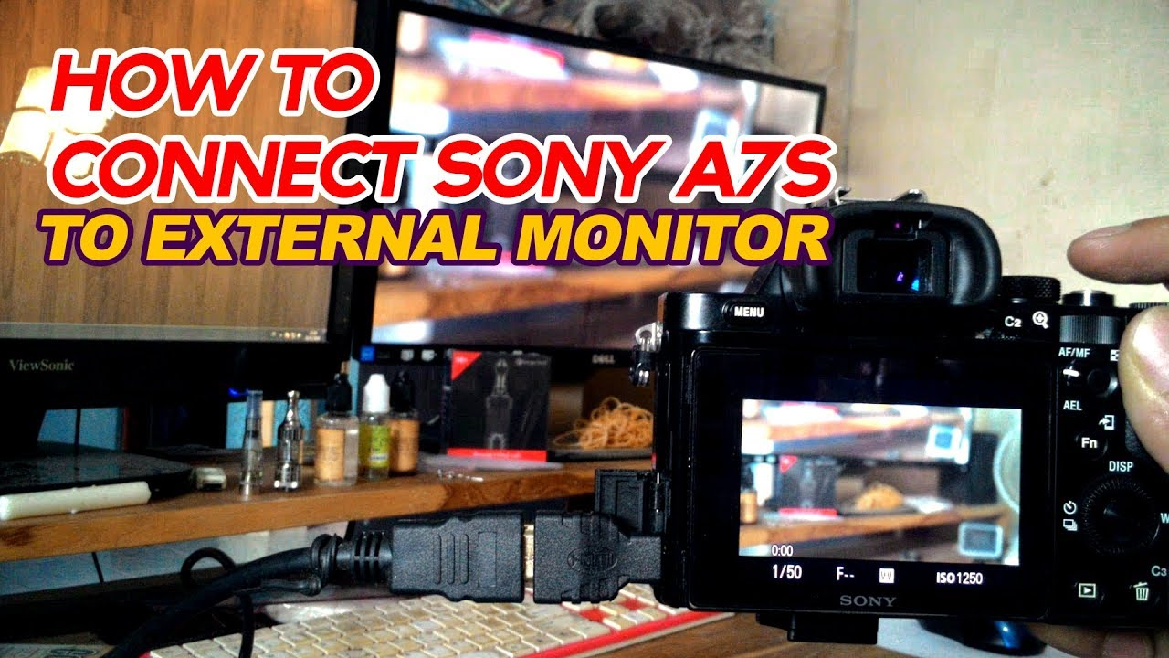 How To Connect a7s to external monitor (mirroring)