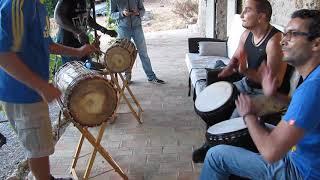 Percussions africaines - Djembefolas en répétition