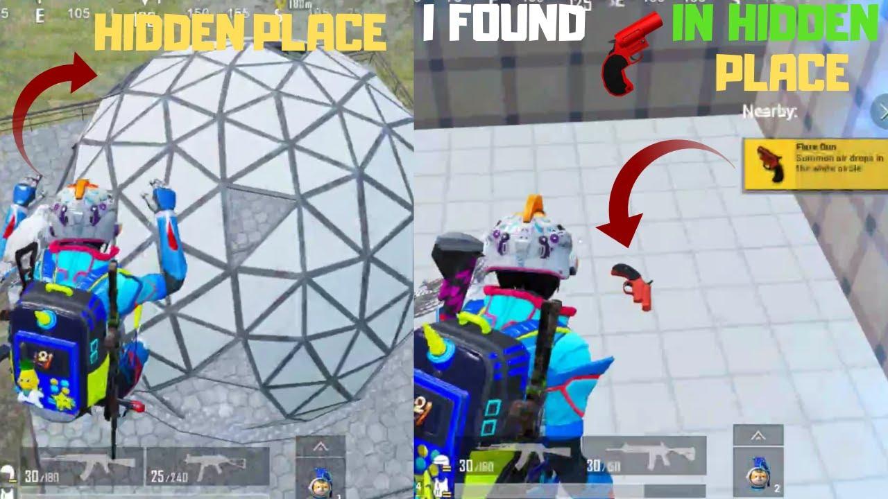 Hidden Place In Spawn Island i Got Flare Gun Erangel Map Flare Gun Confirm Pubg Mobile