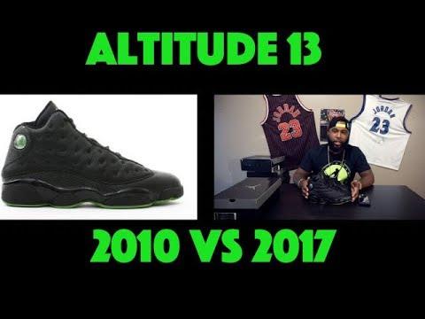 new concept ed9ea ba6e7 Jordan 13 Altitudes - 2010 vs 2017 Comparison - Review - Release Date