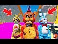 NIGHTMARE TOY ANIMATRONICS STUNT ON WORLD'S BIGGEST RAMP! (GTA 5 Mods For Kids FNAF RedHatter)