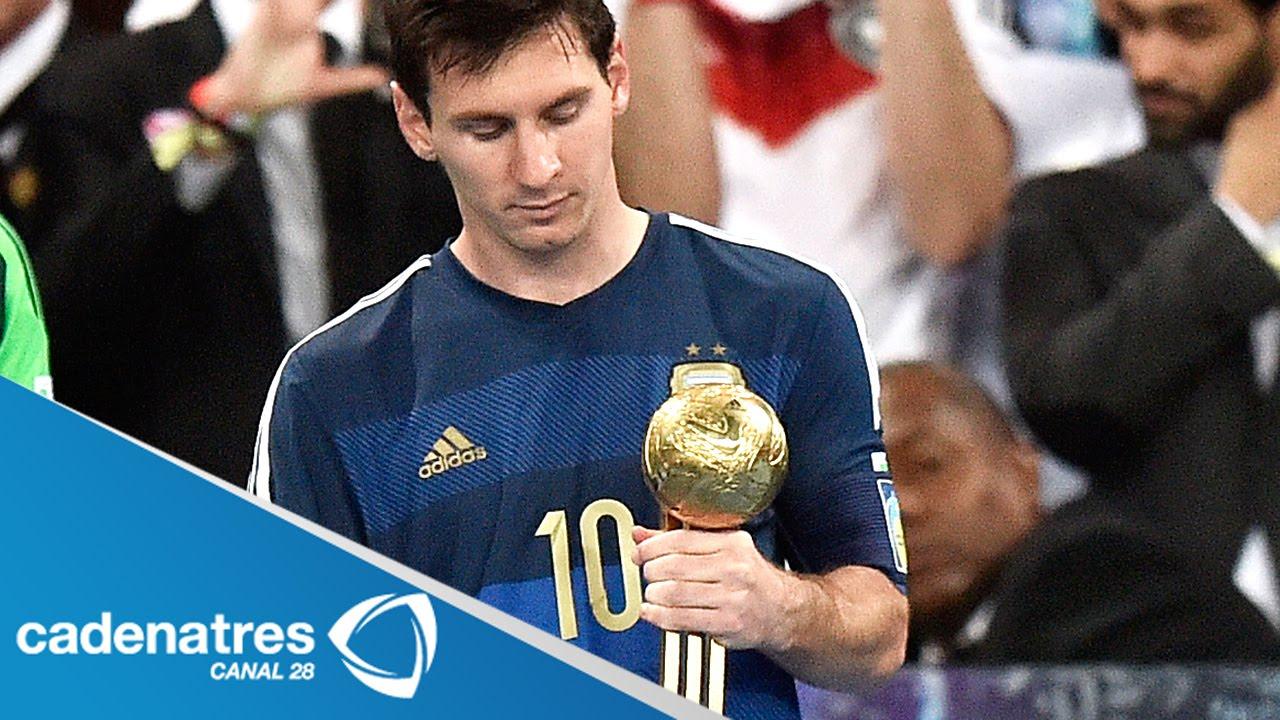 El Argentino Lionel Messi Gana El Balón De Oro Del Mundial