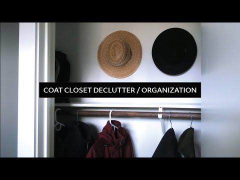 Decluttering & Organizing My Coat Closet  |  Minimalist Home
