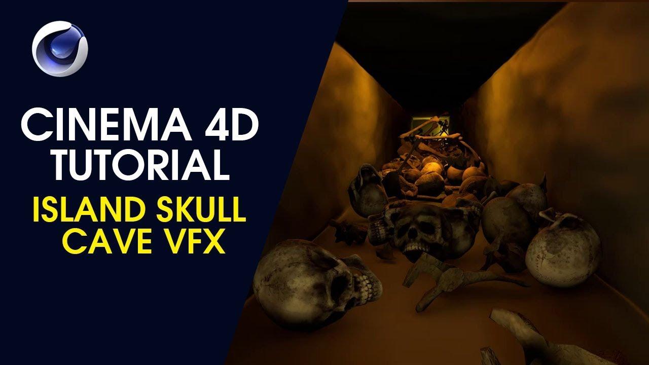 Island Skull Cave VFX - Cinema 4D Tutorial