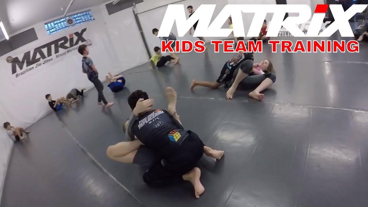 Matrix Jiu Jitsu Kids Team Training