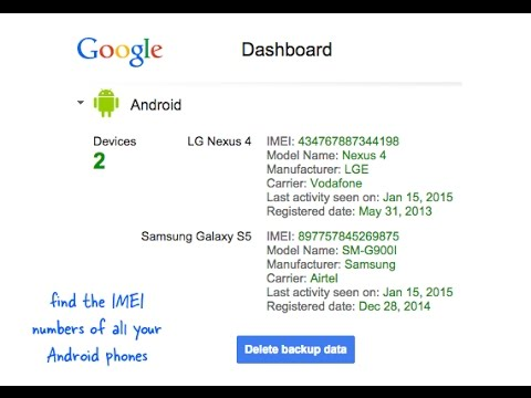 google dashboard find my phone